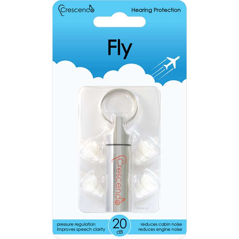 Ohrstöpsel zum Fliegen - Gehörschutz fürs Flugzeug - Crescendo Fly