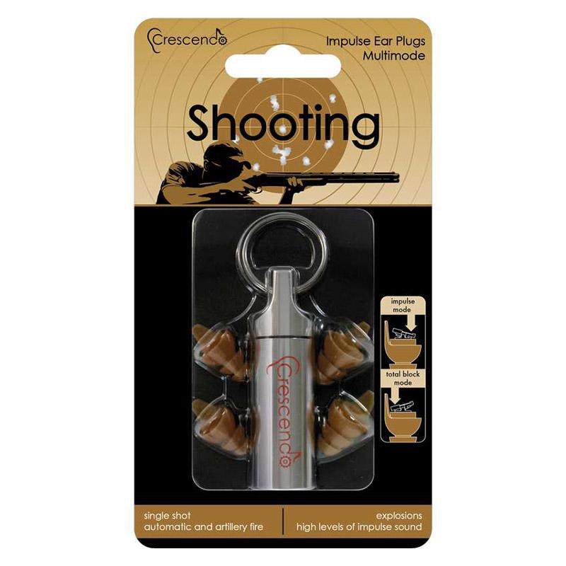 Crescendo Shooting Switched - Ohrstöpsel zum Schießen mit Doppelfunktion