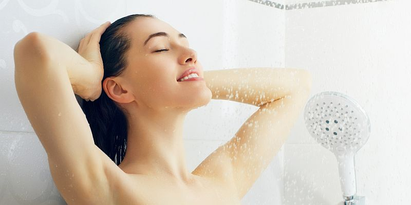 Hearing protection for showering