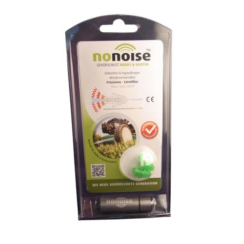 NoNoise Hobby & Garden ear plugs, ear plugs for hobby & garden, reusable, green, 1 pair, SNR 19 dB