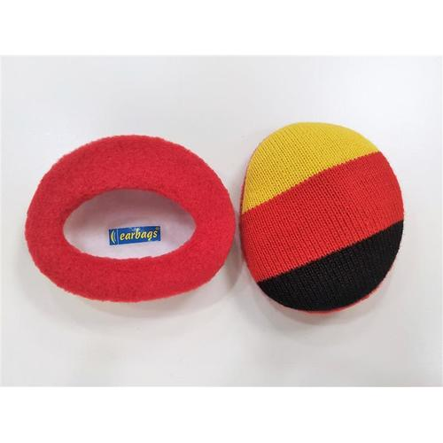 Earbags Schwarz/Rot/Gold M